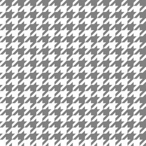 Half Inch Medium Gray and White Houndstooth Check