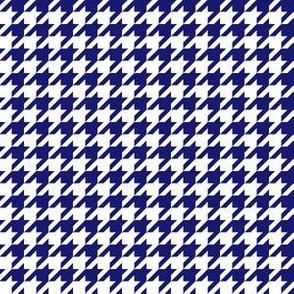 Half Inch Midnight Blue and White Houndstooth Check