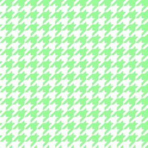 Half Inch Mint Green and White Houndstooth Check