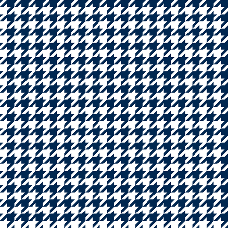 Half Inch Navy Blue and White Houndstooth Check fabric by mtothefifthpower on Spoonflower - custom fabric