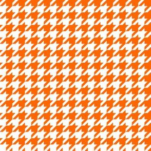 Half Inch Orange and White Houndstooth Check