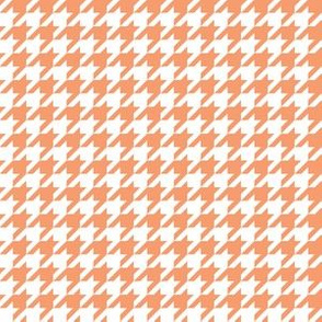 Half Inch Peach and White Houndstooth Check