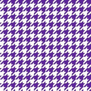 Half Inch Purple and White Houndstooth Check