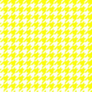 Half Inch Yellow and White Houndstooth Check