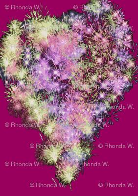 Fizzy Hearts on Flirty Fuchsia