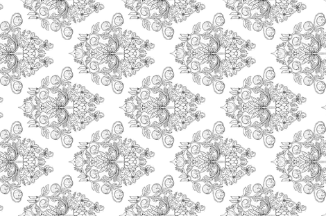 Vegetable Garden Damask - Tea Towel fabric by thecameronquinn on Spoonflower - custom fabric
