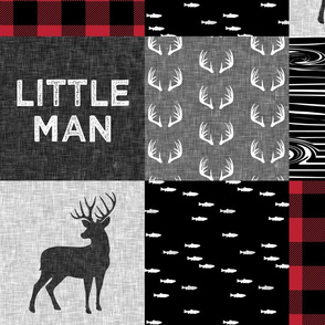 """8"""" Little Man - Red and Black (buck)"""