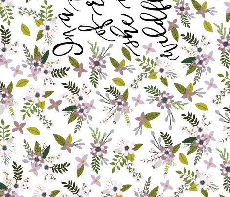 lavender sprigs and blooms // in a field of roses, she is a wildflower // crib sheet fabric by ivieclothco on Spoonflower - custom fabric