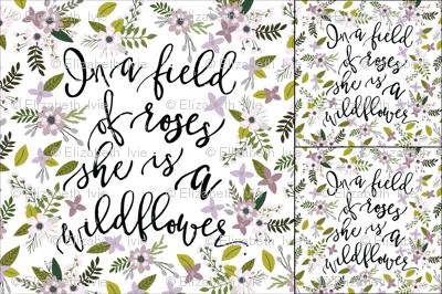 1 blanket + 2 loveys: lavender sprigs wildflower