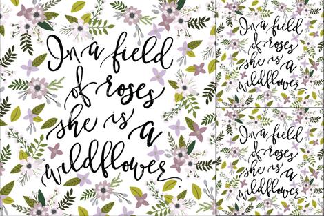 1 blanket + 2 loveys: lavender sprigs wildflower  fabric by ivieclothco on Spoonflower - custom fabric