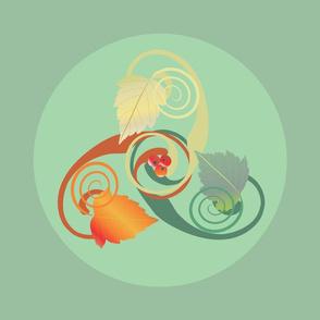 Three Leaves Triskele