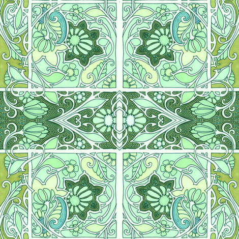 If Nouveau Had a Baby with Plaid fabric by edsel2084 on Spoonflower - custom fabric