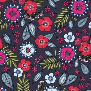 Bouquet darkblue
