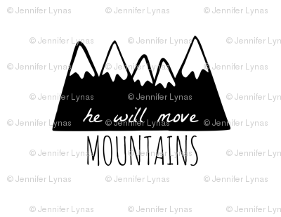 he will move mountains pillow