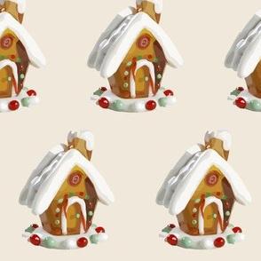 Gingerbread houses vintage watercolor christmas holidays xmas -ed