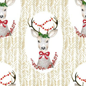 "8"" Holiday Fancy Deer"