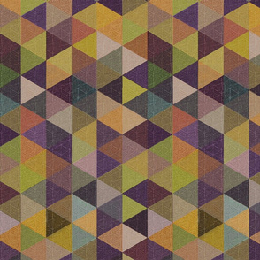 triangles purple rust green