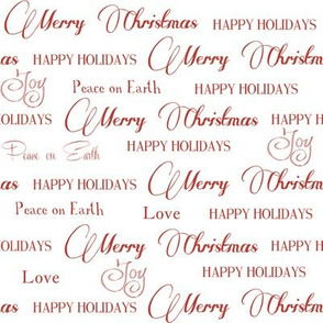 Christmas Script red