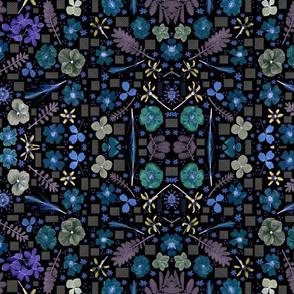 boho dark floral