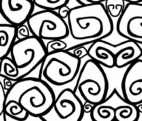 Spirals fabric by zombiedoodles on Spoonflower - custom fabric
