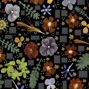 boho warm dark floral