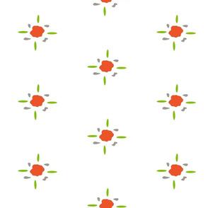 FlowerOrangeGreyGreen
