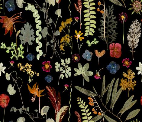 Collectors Garden dark floral fabric by mypetalpress on Spoonflower - custom fabric