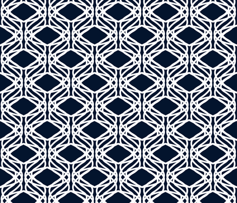 Deep Blue Organic Trellis-ed fabric by scarlette_soleil on Spoonflower - custom fabric