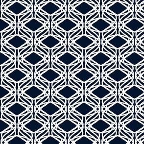 Deep Blue Organic Trellis-ed