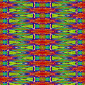 BACKGAMMON INSPIRATION ETHNIC STRIPES CLAY BLUE LIME