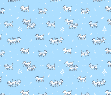 Puppy Dog Walk fabric by nossisel on Spoonflower - custom fabric