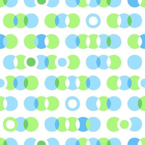 Overlapping circles, rings and dots
