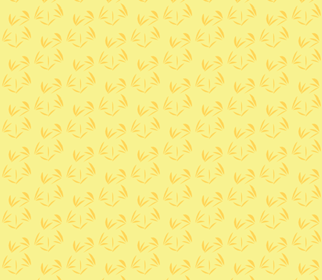 Orange Fizz Oriental Tussocks on Buttery Yellow fabric by rhondadesigns on Spoonflower - custom fabric