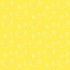 Buttery Yellow Oriental Tussocks on Lemon Fizz - Small Scale