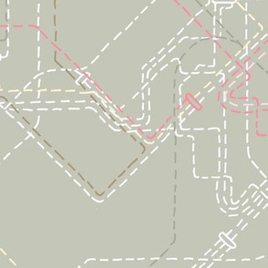 Public Transport Network Sand Gray