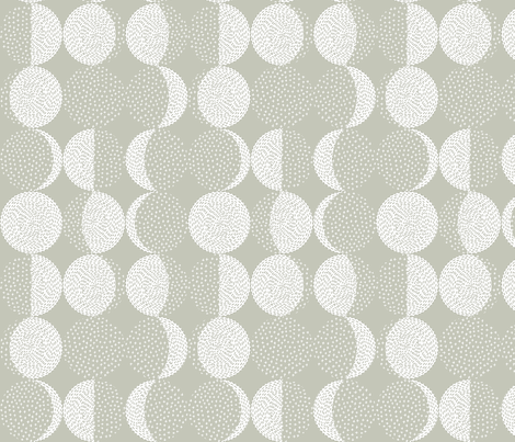 Moon Phases Embroidery Sand Gray fabric by marketa_stengl on Spoonflower - custom fabric