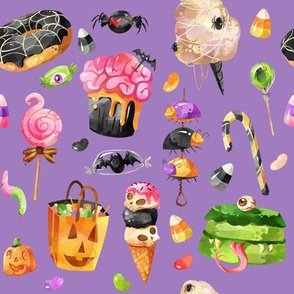"8"" Creepy Treats Halloween // Purple"
