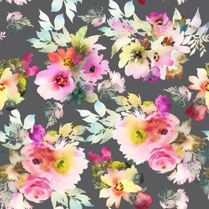 Blush Gray Florals