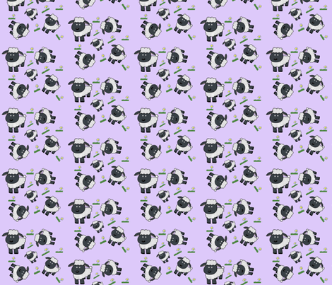 Black_sheep_purple fabric by cartoonist on Spoonflower - custom fabric