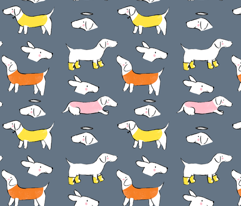 Autumnal Sausage Dogs fabric by lizziemaydesign on Spoonflower - custom fabric