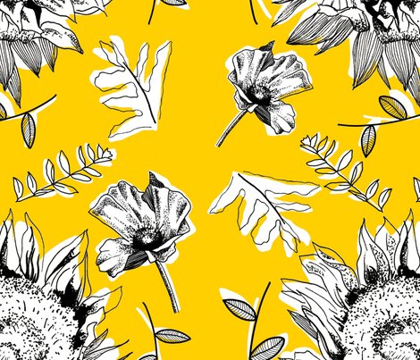 Fancyprints_sunflower_repeat_yellow_shop_preview