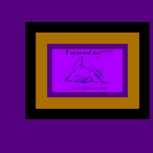 DownwardDogYogaWithASighthoundInTheHouse_Purple