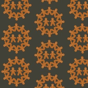 Gingerbread Snowflake (grey)
