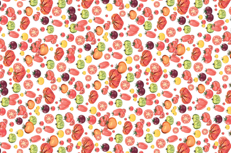 Tomatoes fabric by ariannecolelladesigns on Spoonflower - custom fabric