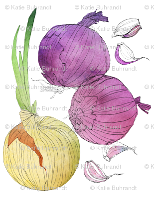 Three Onions and a Handful of Garlic Cloves