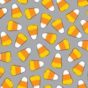 halloween candy corn on grey