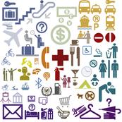 Travel help symbols