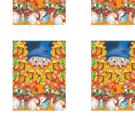gnome_print_1_small fabric by stargazingseamstress on Spoonflower - custom fabric