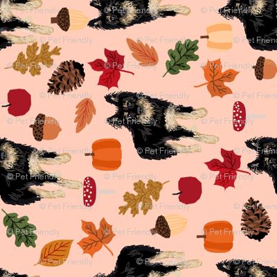 custom dog autumn fabric