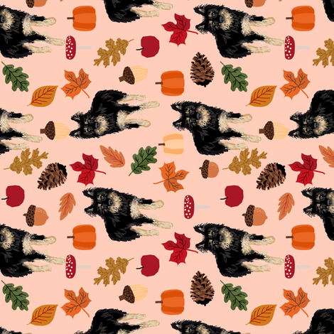 custom dog autumn fabric fabric by petfriendly on Spoonflower - custom fabric